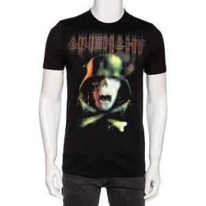Givenchy Black Cotton Army Skull Print Round Neck T-Shirt S