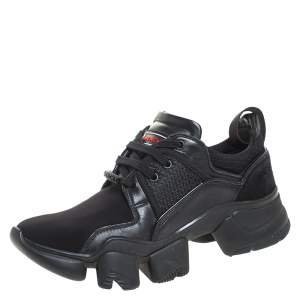 Givenchy Black Nylon, Mesh and Leather Jaw High Top Sneakers Size 42