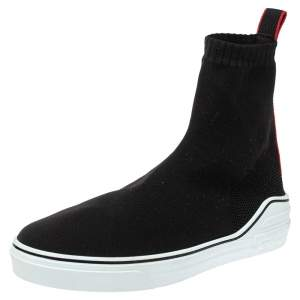 Givenchy Black Knitted Fabric George V Mid Sock Sneakers Size 45