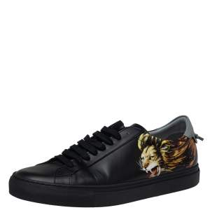 Givenchy Black Leather Leo Sneakers Size 42