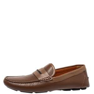Givenchy Brown Leather Slip On Loafers Size 41.5