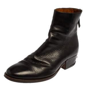حذاء بوت كاحل جيفنشي جلد أسود مقاس 42