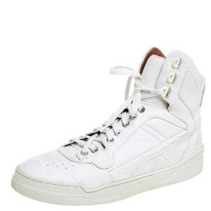 Givenchy White Leather High Top Sneakers Size 39