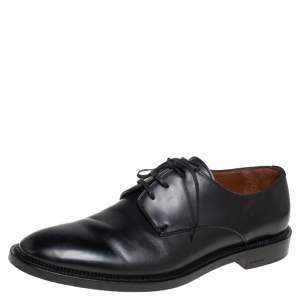 Givenchy Black Leather Lace Up Derby Size 46
