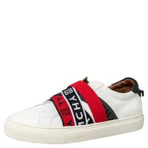 Givenchy White Leather Urban Street Slip On Sneakers Size 42