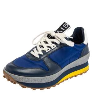Givenchy Blue Nylon and Leather TR3 Runner Low Top Sneakers Size 39