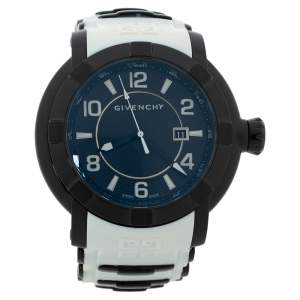 Givenchy Black PVD Coated Stainless Steel Silicon Rubber GV.5254J Men's Wristwatch 48 mm