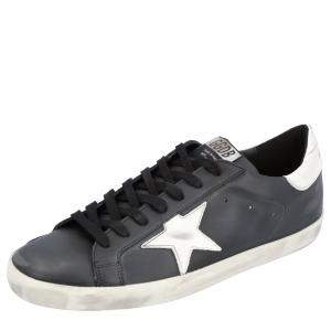 Golden Goose Black Superstar Leather Sneakers Size 43
