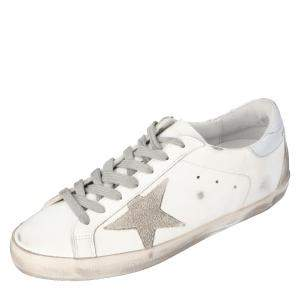 Golden Goose White Superstar Sneakers Size 42