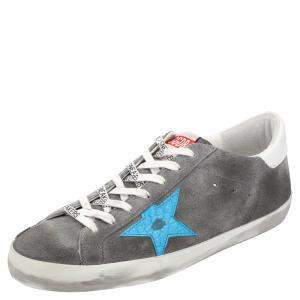 Golden Goose Grey Suede Superstar Sneakers Size EU 44