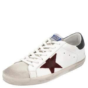 حذاء رياضي غولدن غوس سوبرستار أحمر/أبيض بعنق منخفض مقاس أوروبي 40