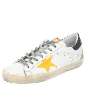 حذاء رياضي غولدن غوس منخفض من أعلى سوبرستار أصفر/ أبيص مقاس EU 43