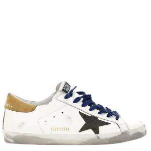 Golden Goose White/Brown/Black Leather Classic Superstar Sneaker Size EU 44