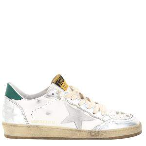 Golden Goose White/Green Ball Star Sneakers Size EU 43