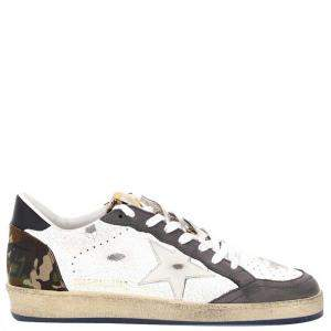 Golden Goose White Camouflage Ball Star Sneakers Size EU 43