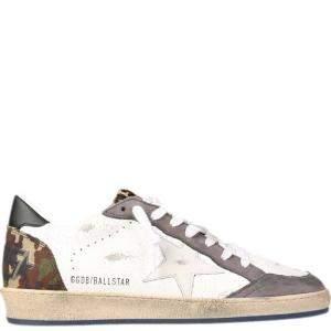 Golden Goose White/Multicolor Camaouflage Ballstar Sneakers Size EU 44