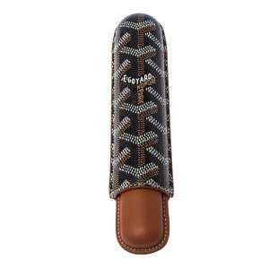 Goyard Brown Goyardine Coated Cigarrete Churchill Case