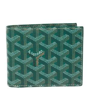 Goyard Green Goyardine Coated Canvas Bifold Wallet