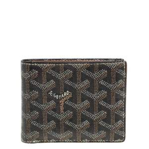 Goyard Brown Coated Canvas Victoire Bifold Wallet