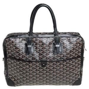Goyard Black Goyardine Canvas and Leather Ambassade MM Briefcase