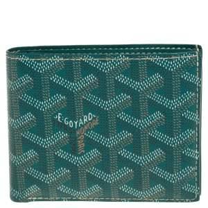 Goyard Green Goyardine Coated Canvas Victoire Bifold Wallet