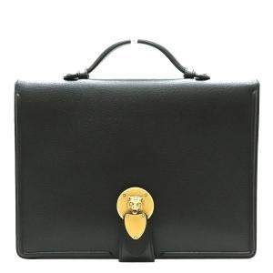 Gucci Black Leather Business Briefcase Bag