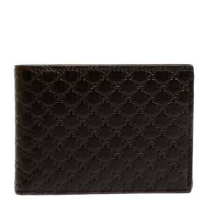 Gucci Brown GG Microguccissima Leather Bifold Wallet