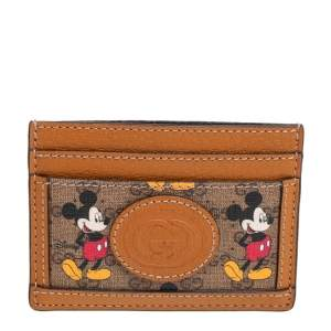 Gucci x Disney GG Supreme Monogram Canvas And Leather Mickey Mouse Card Holder