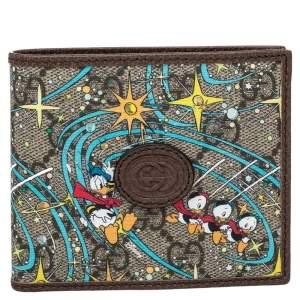 Gucci x Disney Beige GG Supreme Donald Duck Billfold Wallet
