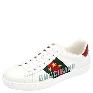Gucci White Ace Gucci Band Sneakers Size UK 7