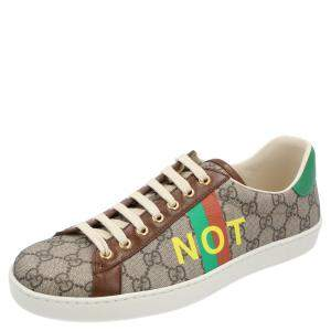 Gucci Beige/Brown GG Canvas Fake/Not Print Ace Sneaker Size EU 40