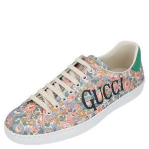 Gucci Multicolor Ace Gucci Floral Sneakers Size EU 39