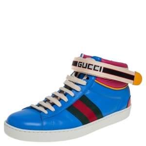 حذاء رياضي غوتشي إيس جلد متعدد الألوان بعنق مرتفع مقاس 41