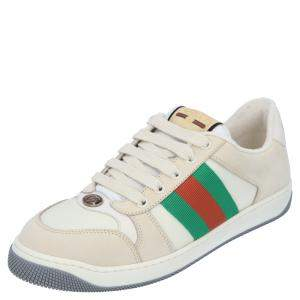 Gucci Leather Web Screener Sneakers Size UK 6 (EU 39 1/3)