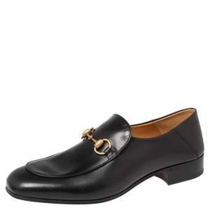 Gucci Black Leather Horsebit Loafer Size 43.5