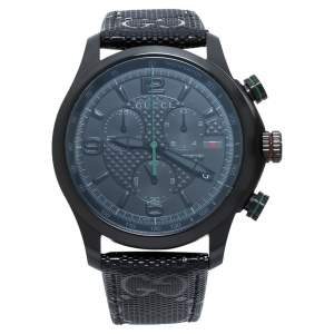 Gucci Black PVD Stainless Steel G-Timeless YA126244 Men's Wristwatch 44 mm