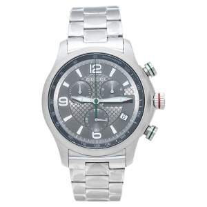 Gucci Grey Stainless Steel G-Timeless YA126248 Men's Wristwatch 44 mm