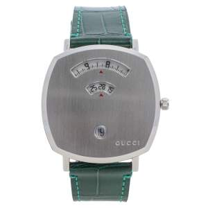 Gucci Stainless Steel & Alligator Leather Grip YA157414 Men's Wristwatch 38 mm