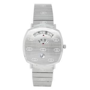 Gucci White Stainless Steel Grip YA157410 Unisex Wristwatch 38 mm