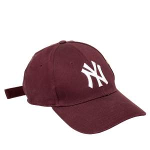 Gucci Burgundy Butterfly Appliqued NY Yankees Patch Baseball Cap