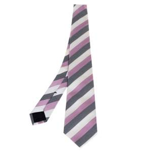 Gucci Multicolor Diagonal Striped Silk Tie