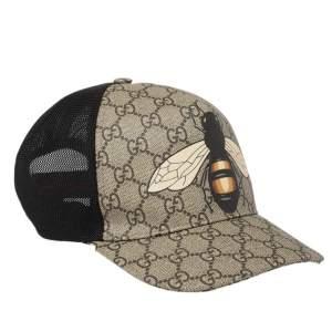 قبعة بيبسبول غوتشي كانفاس جي جي سوبرين مطبوع نحله بيج مقاس وسط (ميديوم)