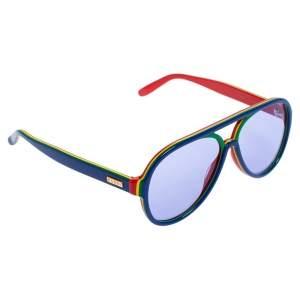 Gucci Multicolor/ Blue GG0270S Pilot Sunglasses