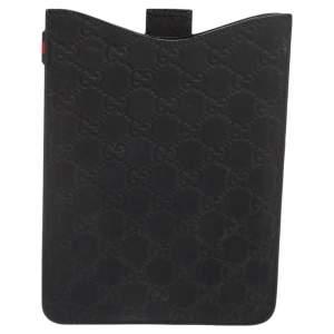 Gucci Black Guccissima Rubber Mini iPad Case