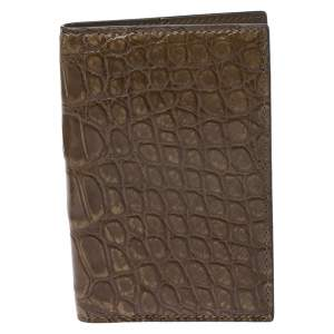 Gucci Brown Crocodile Bifold Wallet