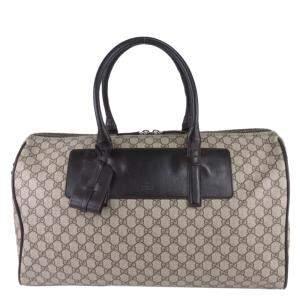 Gucci Brown GG Supreme Canvas Duffle Bag