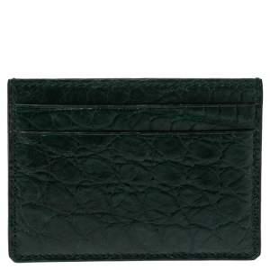Gucci Dark Green Alligator Card Holder