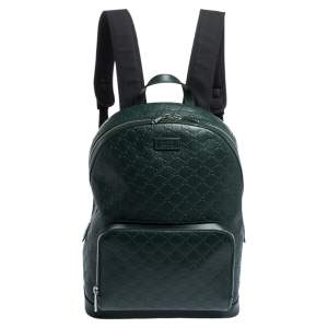 Gucci Green Guccissima Leather Backpack