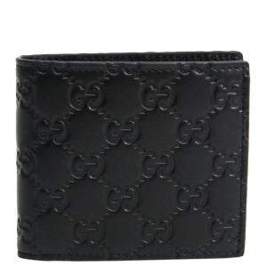 Gucci Black Guccissima Leather Bi Fold Wallet