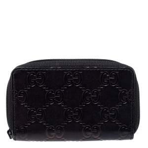 Gucci Black Guccissima Leather Coin Purse